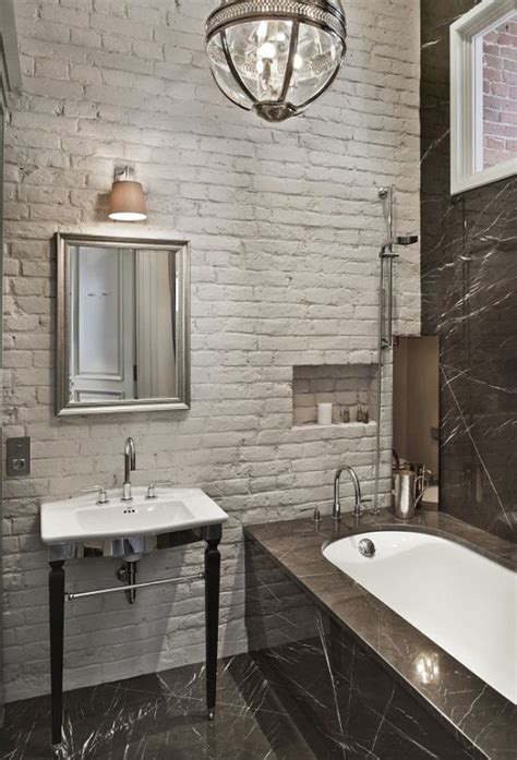 brick in a bathroom 33 bathroom designs with brick wall tiles ultimate home ideas