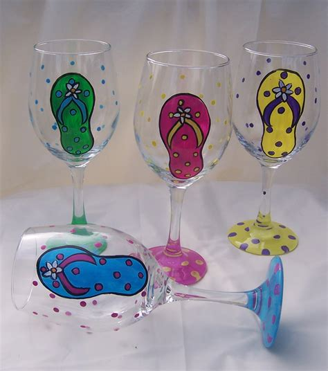 wine glass painting hand painted decorative glasses personalized wine glass
