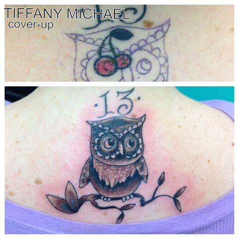small cover up tattoos small owl cover up