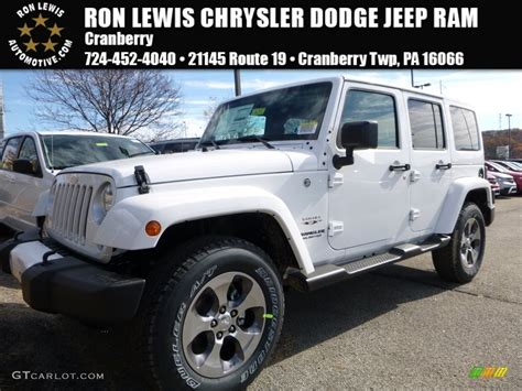 white jeep 2016 2016 bright white jeep wrangler unlimited sahara 4x4