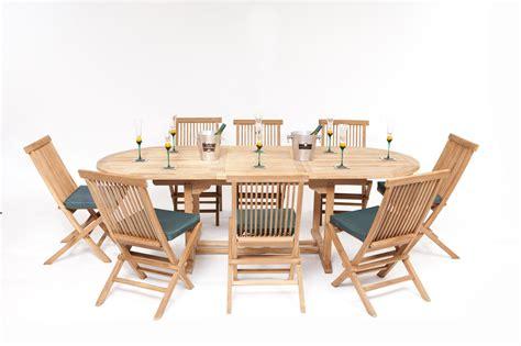 8 Seater Teak Garden Furniture Sets Honfleur Teak Garden Furniture Set Humber Imports