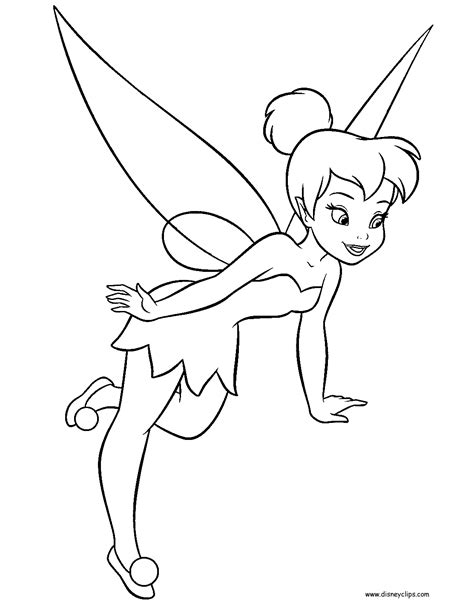 coloring pages tinkerbell free disney fairies tinker bell printable coloring pages
