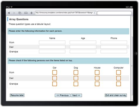 limesurvey template ipad tuned limesurvey consulting com