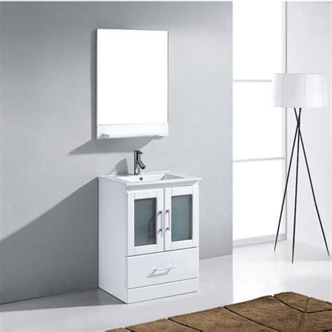Zola Bathroom Furniture Bathroom Vanities 24 Zola Single Basin White Countertop Bathroom Vanity Set In Espresso