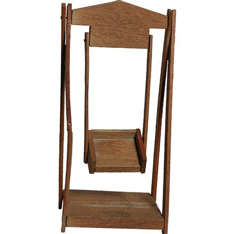 wooden swing seat dollhouse miniature wooden swing with seat from