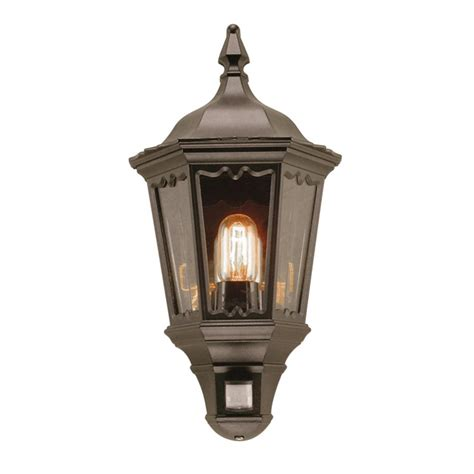 Lights And Lanterns Elstead Lighting Medstead Half Lantern With Pir From