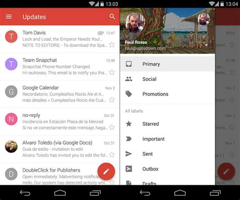 layout instagram uptodown gmail 5 0 apk now leaked