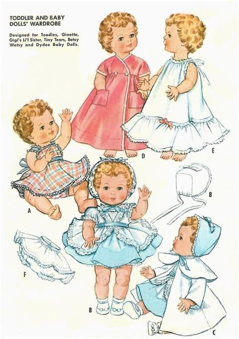 vintage 11 12 quot tiny tears doll clothes pattern 2349 ebay
