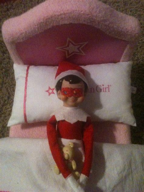 elf   shelf idea asleep  sleep mask elf   shelf christmas elf elf