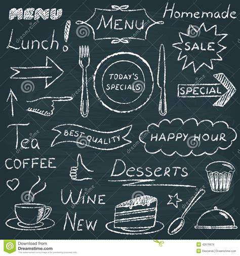 menu design elements set of restaurant menu design elements stock vector