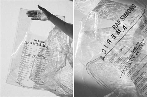 raf simons and voo store collab to bring us an exclusive shopping bag pause s