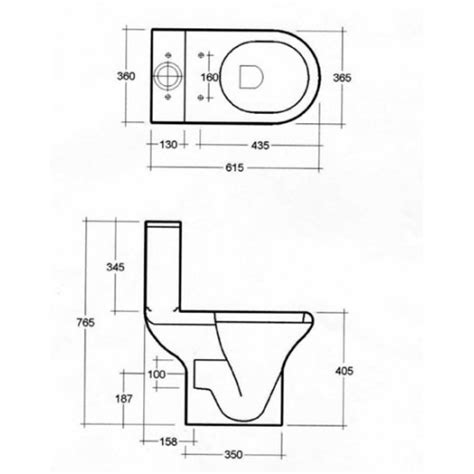Space Saving Shower Bath rak compact close coupled wc with seat