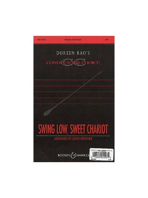 swing low sweet chariot acapella swing low sweet chariot satb vocal score sheet music