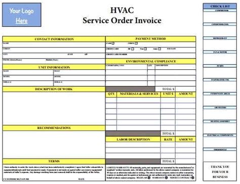 florida hvac efficiency card template hvac invoice template form templates