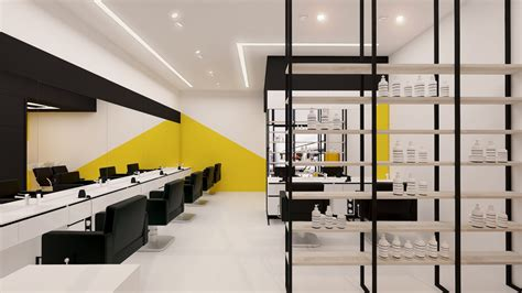 balsan design concept xxl 3d visualization the concept of barber shop in style