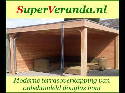 veranda zelf maken houten veranda terrasoverkapping bouwpakket zelf bouwen