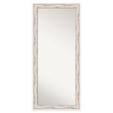 29 inch x 65 inch alexandria floor mirror in distressed