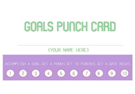 attendance punch card template the hill family