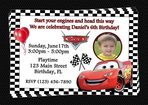 cars invitation cards templates free printable disney cars birthday invitations 1000