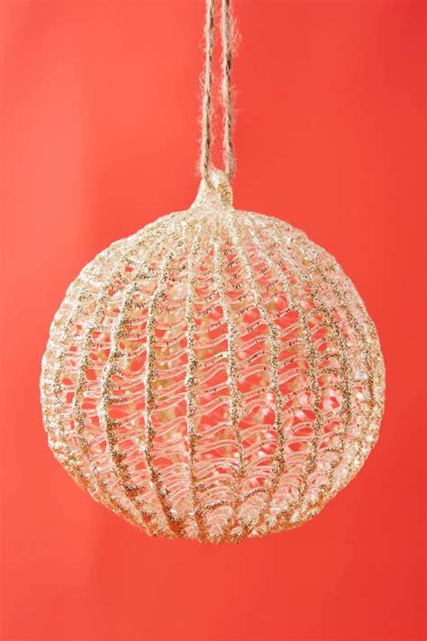 gold spun glass ornament anthropologie christmas