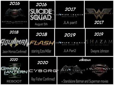 2016 film lineup dc and marvel are all set to make 2016 2020 the years of