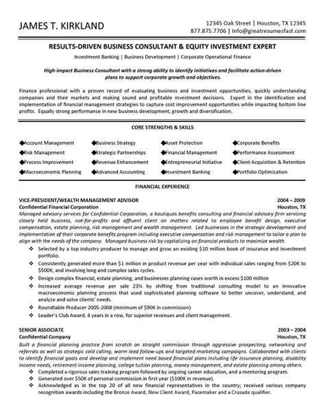Resume Exles Business Management Business Management Resume Template Business Management