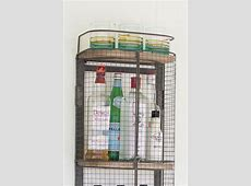 Floating Wall Mount Industrial Modern Cage Wine Bar Liquor ... Industrial Style Home Decor