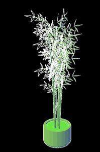 bamboo plant  pot  dwg model  autocad designs cad