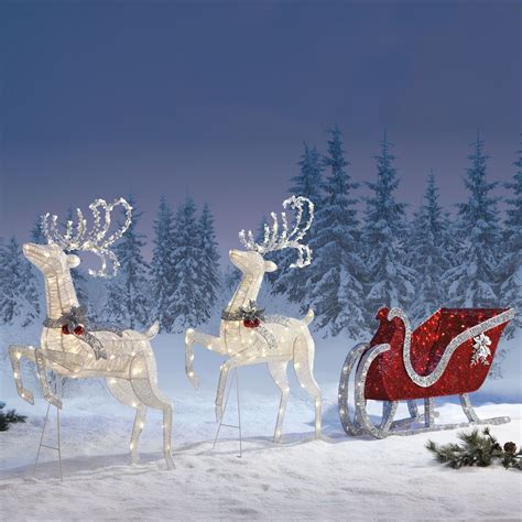 400 led outdoor lights sleigh reindeers with 400 led lights outdoor garden