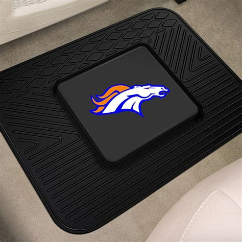 Broncos Car Mats by Fanmats 174 9991 2nd Row Heavy Duty Vinyl Car Mats With