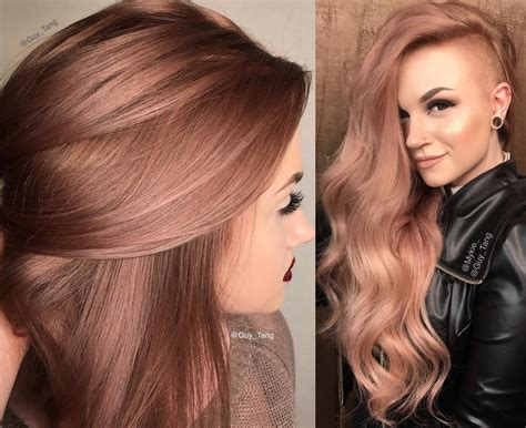 the latest hair colour for lunar new year 2015 il rose gold per chi vuole osare con moderazione