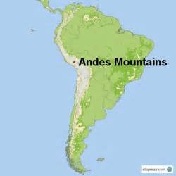 south america andes mountains map