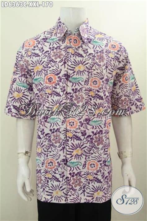 Baju Lelaki Bunga produk baju batik pria motif bunga proses cap kemeja batik lengan pedek kwalitas halus ukuran