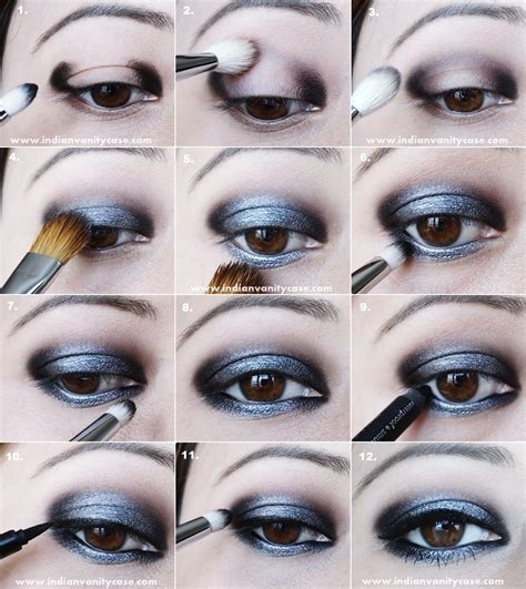 Eyeshadow Tutorial indian vanity fifty shades of grey inspired look