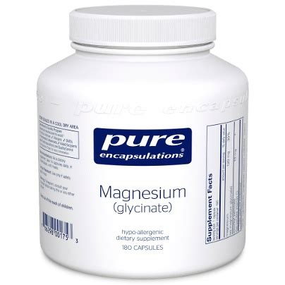 Magnesium Glycinate As A Detox by Magnesium Glycinate 180 Capsules