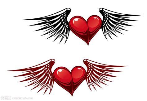 手绘长翅膀的心矢量图片 图片id 771330 其他 生活百科 矢量素材 淘图网 taopic com