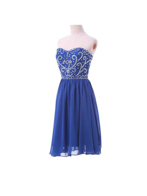 Royal Dress Turkish fashional elegat royal blue sweetheart embroidery and beaded prom homecoming dress lace up
