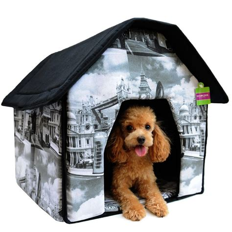 soft indoor dog house portable pet house bed collapsible warm soft indoor for