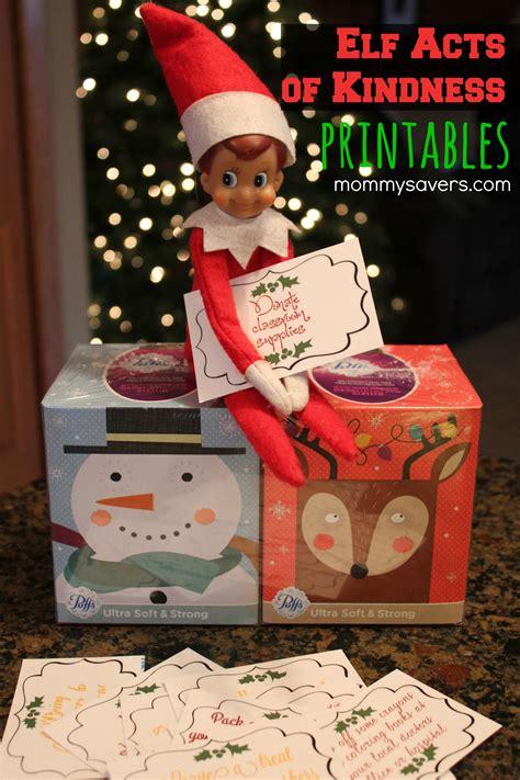 printable kindness elf ideas elf on the shelf printables random acts of kindness