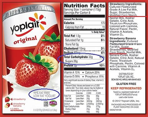 yoplait light yogurt nutrition facts study shows that low fat products contain more sugar than