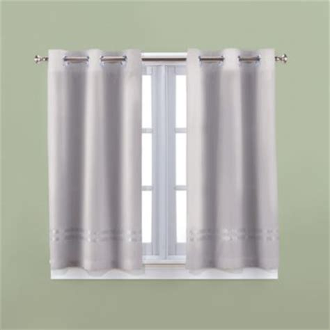 Gray Bathroom Window Curtains Buy Avalon 36 Inch X 45 Inch Bath Window Curtain Pair In Grey From Bed Bath Beyond
