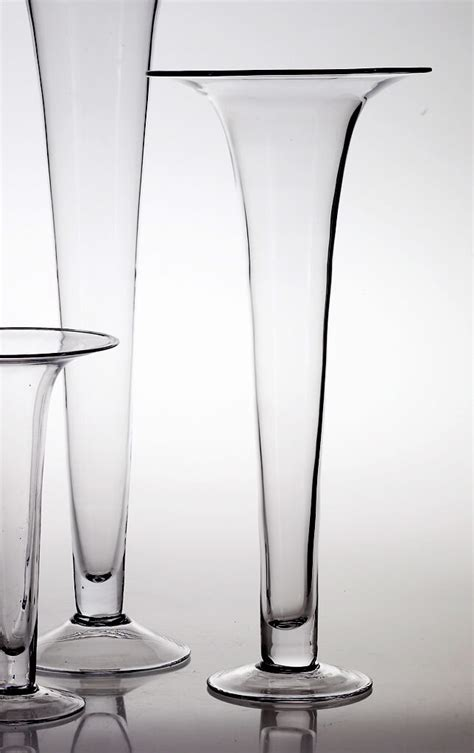 glass 24in trumpet vases panache vase