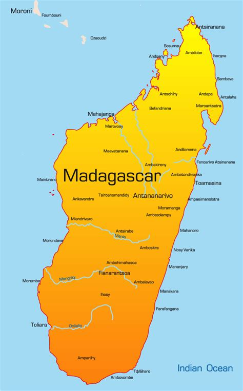 madagascar map madagascar map showing attractions accommodation