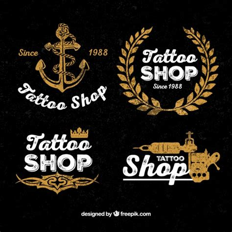 tattoo logos vintage tattoo shop logos vector free download