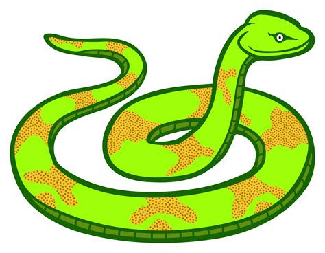 snake clipart green snake vector clipart image free stock photo