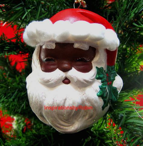 items similar to african american santa claus holly jolly