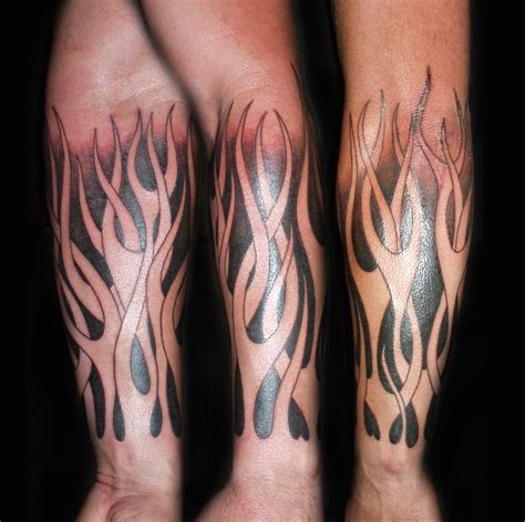 tribal tattoos for your forearm tribal flames tattoos on arm http bit ly 1kpwclp arm