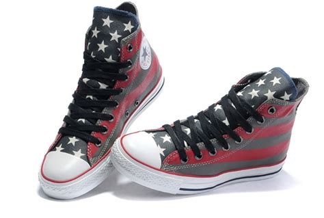 quality converse american flag all painted high tops