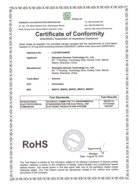 rohs compliance certificate template pin rohs compliance certificate template cake on