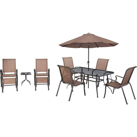 courtyard creations scottsburg 10 pc sling dining set